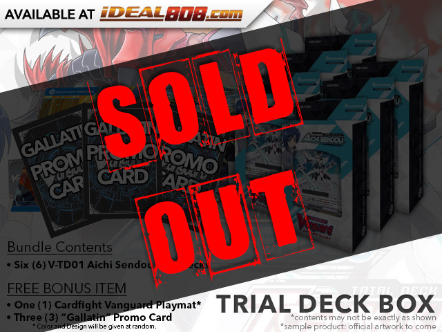CFV-V-TD01 Aichi Sendou (English) V-Trial Deck Box [Contains 6 Decks] + FREE Bonus Items