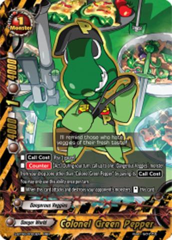 Colonel Green Pepper [S-BT06/0003EN RRR (FOIL)] English