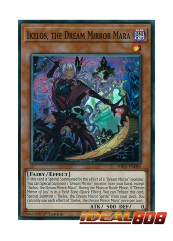 Ikelos  the Dream Mirror Mara - RIRA-EN086 - Super Rare - 1st Edition