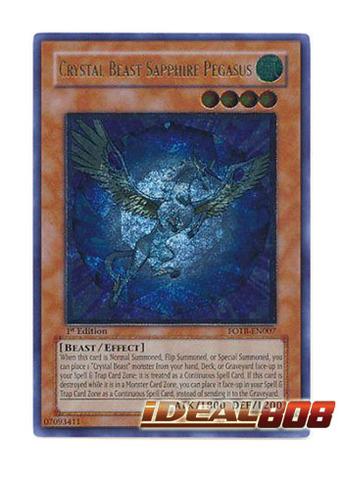 Crystal Beast Sapphire Pegasus - FOTB-EN007 - Ultimate Rare - 1st Edition