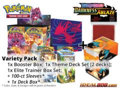 Pokemon SS03 Variety Pack - Get x1 Sword & Shield: Darkness Ablaze Booster Box, x1 Theme Deck Set; x1 ETB + FREE Bonus * Aug.14