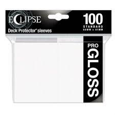 Ultra Pro Gloss Eclipse Standard Sleeves 100ct - Arctic White [#15600]
