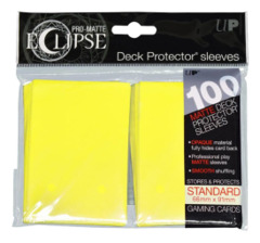 Ultra Pro Matte Eclipse Standard Sleeves 100ct - Lemon Yellow [#85608]
