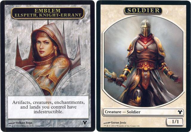 Emblem Elspeth, Knight-Errant // Soldier Token