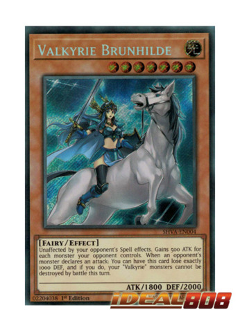 Valkyrie Brunhilde - SHVA-EN004 - Secret Rare - 1st Edition