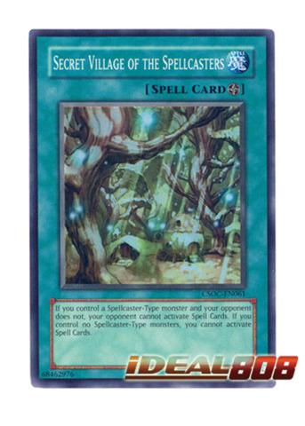 Yugioh Secret Village of The Spellcasters CSOC-EN061 Super Rare