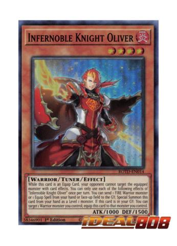 Infernoble Knight Oliver Super Rare ROTD-EN014 Near-Mint 1st Edition