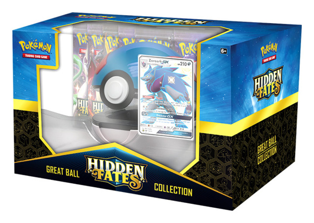 Hidden Fates Pokemon  Great Ball Collection - Shiny Zoroark GX