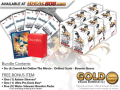 Weiss Schwarz SAO Bundle (C) Gold - Get x6 Sword Art Online The Movie – Ordinal Scale – Booster Boxes + FREE Bonus * PRE-ORDER