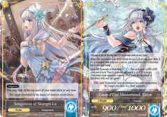 Songstress of Shangri-La // Coup d'Etat Mastermind, Shion [TMS-046 UR (Uber Rare Foil Ruler)] English