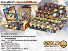 FC-Buddyfight X-BT03 Bundle (C) Silver - Get x8 Overturn! Thunder Empire! Booster Box & 1x X-TD03 Trial Deck