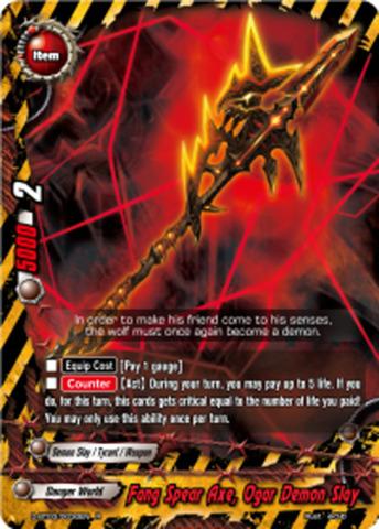 Fang Spear Axe Ogar Demon Slay D Bt030030en R Foil English
