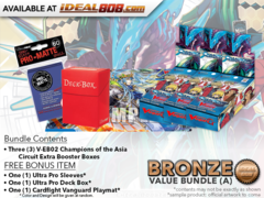 CFV-V-EB02  Bundle (A) Bronze - Get x3 Champions of the Asia Circuit Cardfight Vanguard Booster Box + FREE Bonus Items