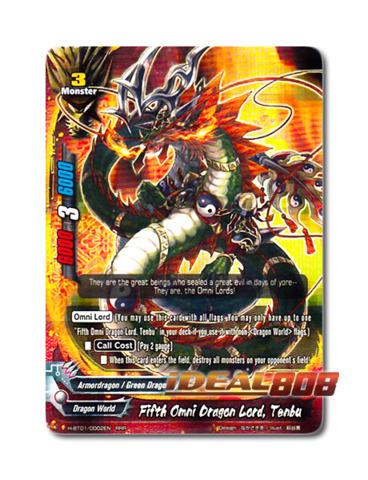 Fifth Omni Dragon Lord, Tenbu [H-BT01/0002EN RRR] English Triple Rare