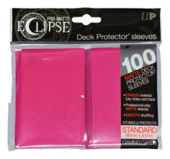 Ultra Pro Matte Eclipse Standard Sleeves 100ct - Hot Pink [#85609]