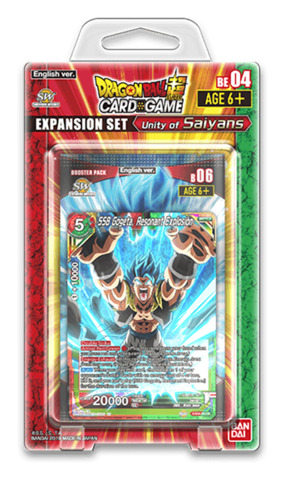 DBS-BE04 Unity of Saiyans (English) Dragon Ball Super Expansion Set [Contains 3 Booster Packs + 8 Promo cards]
