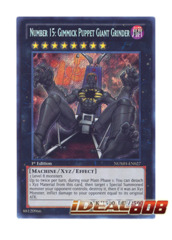 Number 15: Gimmick Puppet Giant Grinder - NUMH-EN027 - Secret Rare - Unlimited