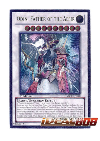 Odin, Father of the Aesir - STOR-EN040 - Ultimate Rare - 1st Edition