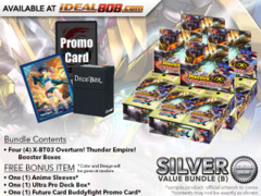 FC-Buddyfight X-BT03 Bundle (B) Silver - Get x4 Overturn! Thunder Empire! Booster Box + FREE Bonus Items