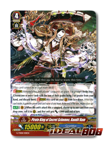 Pirate King of Secret Schemes, Bandit Rum - G-TD08/001EN - TD (common ver.)