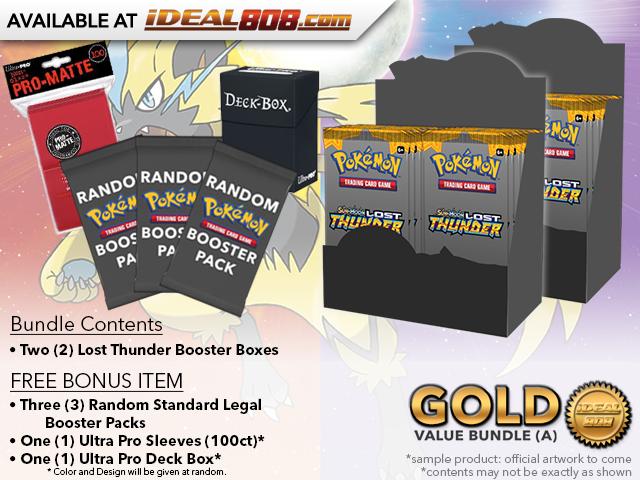 Pokemon SM08 Bundle (A) Gold - Get x2 Lost Thunder Booster Box + FREE Bonus