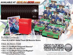 CFV-V-BT01  BUNDLE (B) Silver - Get x4 Unite! Team Q4 Booster Box + FREE Bonus Items *PRE-ORDER Ships Jun.22