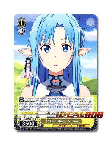 Asuna Weiss Schwarz Sword Art Online x 4 Bitter Memories FOIL SAO//SE23-E02 C