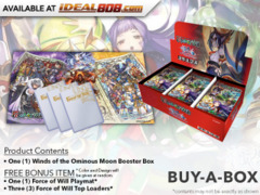 FoW-R04 Winds of the Ominous Moon (English) Force of Will Booster Box + FREE Playmat & FoW Top Loaders