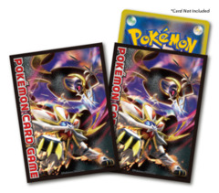 Pokemon Sun & Moon - Card Sleeves (64ct) - Solgaleo & Lunala [#190570]