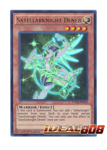 YuGiOh Satellarknight Deneb Ultra Rare DUEA-EN018 1st ed Near mint
