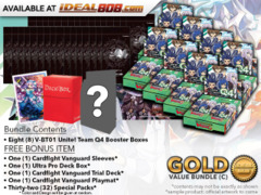CFV-V-BT01  BUNDLE (C) Gold - Get x8 Unite! Team Q4 Booster Box + FREE Bonus Items * PRE-ORDER Ships Jun.22