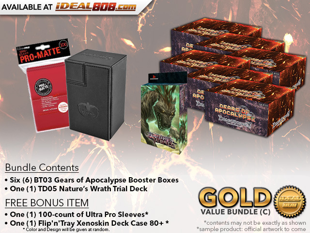 Dragoborne BT03 Bundle (C) Gold - Get x6 Gears of Apocalypse Booster Boxes + FREE Bonus Items * PRE-ORDER Mar.2