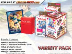Weiss Schwarz KS Variety Pack - Get x1 Konosuba Booster Box & x2 Trial Decks + FREE Bonus