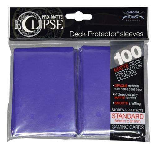 Ultra Pro Matte Eclipse Standard Sleeves 100ct - Royal Purple [#85610]