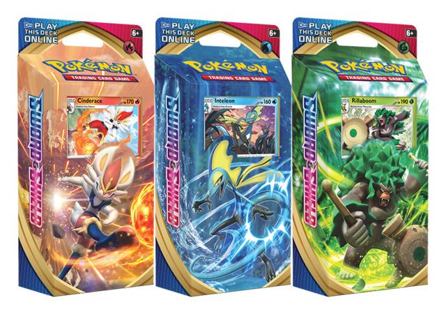 SS Sword & Shield - Base Set (SS01) Pokemon Theme Deck  Set - [All 3 Decks] * PRE-ORDER Ships Feb.07