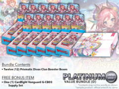 Cardfight Vanguard G-CB05 Bundle (D) Platinum - Get x12 Prismatic Divas Booster Box + FREE Bonus