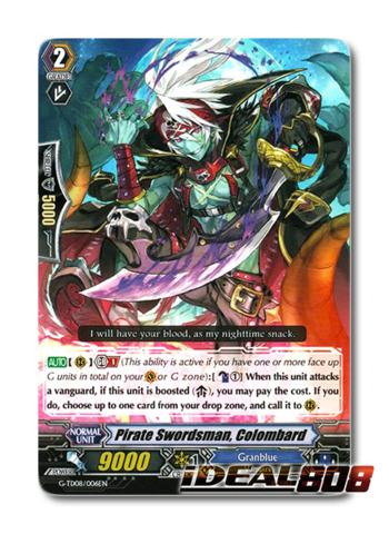 Pirate Swordsman, Colombard - G-TD08/006EN - RRR (Foil ver.)