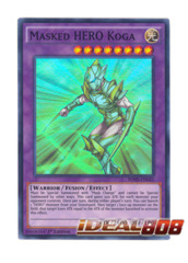Masked HERO Koga - SDHS-EN042 - Super Rare - 1st Edition