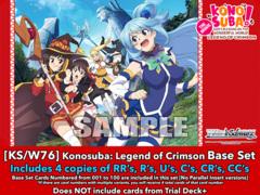 [KS/W76] KONOSUBA - Legend of Crimson (EN) Base Playset [Includes RR's, R's, U's, C's, CR's, CC's (400 cards)]
