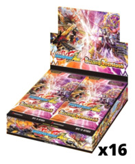 BFE-S-BT02A Blazing Overclash (English) Future Card Buddyfight Ace Booster  Case [16 Boxes]