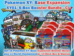 Pokemon XY01 Bundle (C) - Get x6 XY Base Set Booster Box plus x1 World Championship 2013 Double Deck Box & Sleeves