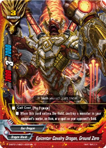 Epicenter Cavalry Dragon, Ground Zero [D-BT01A-EB01/0031EN C (FOIL)] English