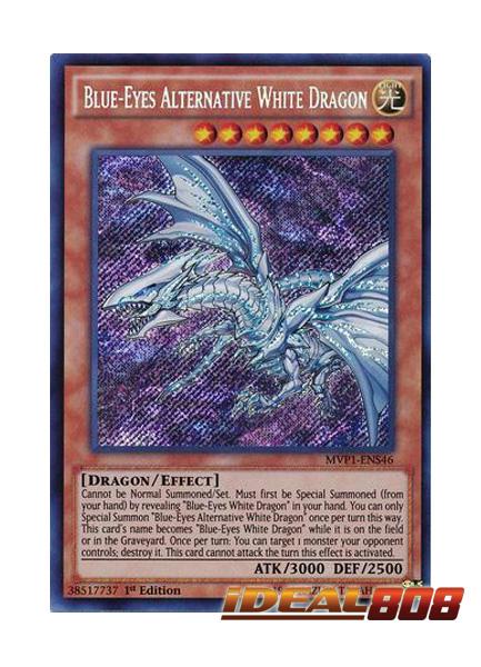 Yugioh Blue-Eyes Alternative White Dragon 1st Ed Secret Rare MVP1-ENS46 NM