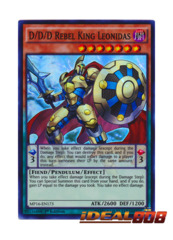 D/D/D Rebel King Leonidas - MP16-EN173 - Super Rare - 1st Edition
