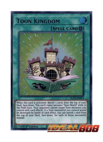YuGiOh Spell Card Toon Kingdom DLCS-EN074 1st Edition Purple Ultra Rare