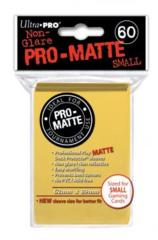 Ultra Pro Matte Non-Glare Small Sleeves 60ct - Yellow (#84268)