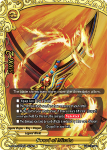 Sword of Misaha [S-BT06/0075EN Secret (FOIL)] English