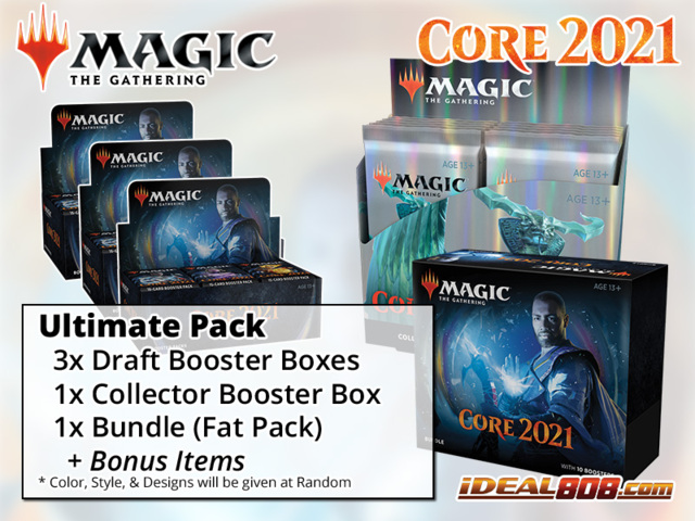 !MTGM21 ULTIMATE PACK - Get x3 Core Set 2021 Booster Box; x1 Bundle; x1 Collector Box + FREE Bonus Items