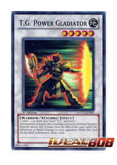T.G. Power Gladiator - EXVC-EN041 - Super Rare - 1st Edition
