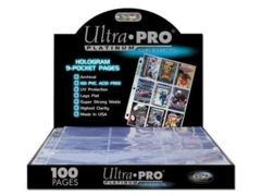Ultra Pro 9-Pocket Trading Card Pages - Platinum Series (100 Pages) #81320